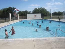 Swimming at pool