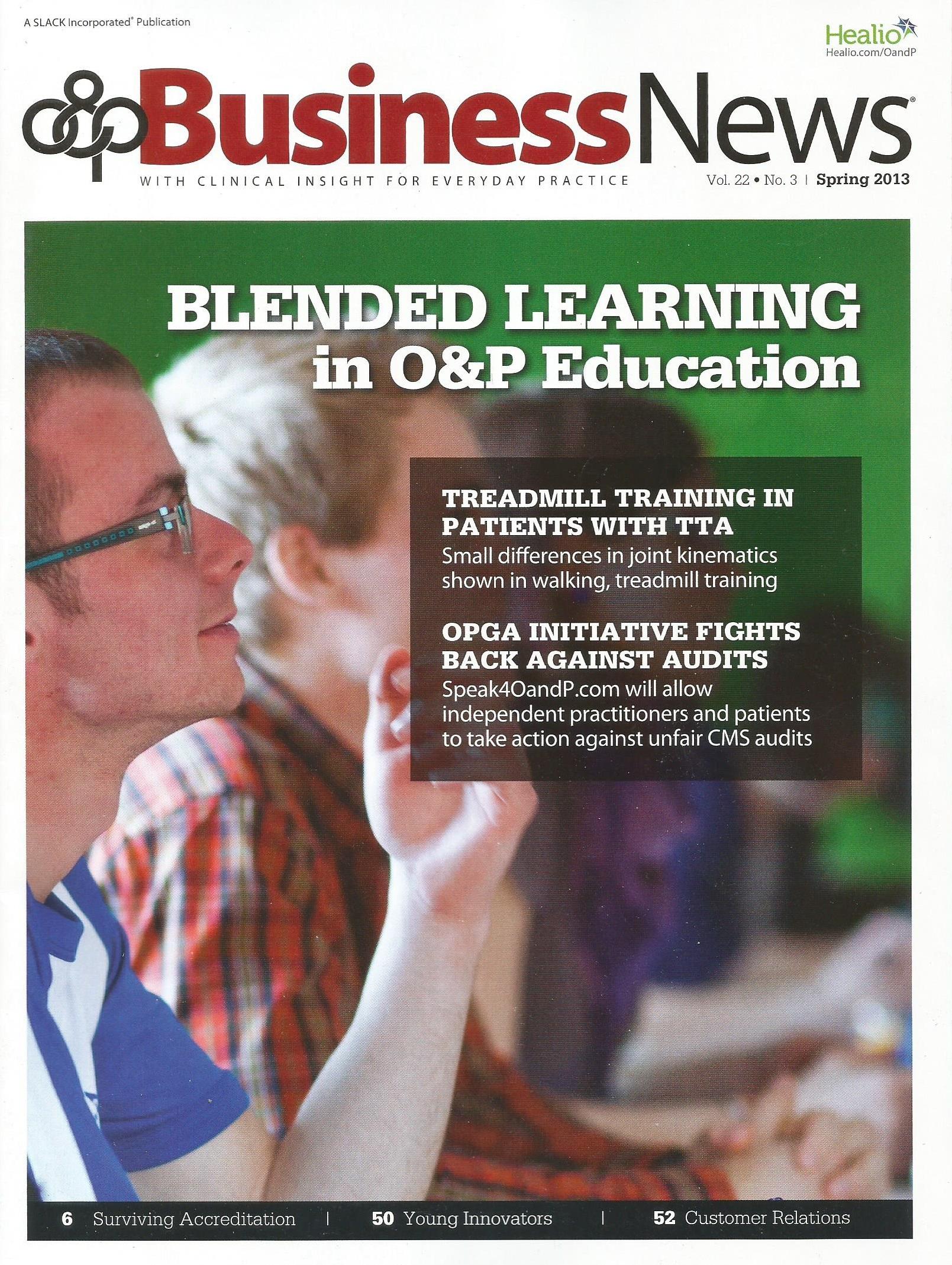 O & P Business News Spring 2013